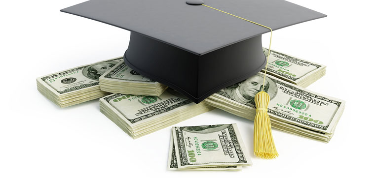 graduation hat and money representing why you should care about student loan default rates